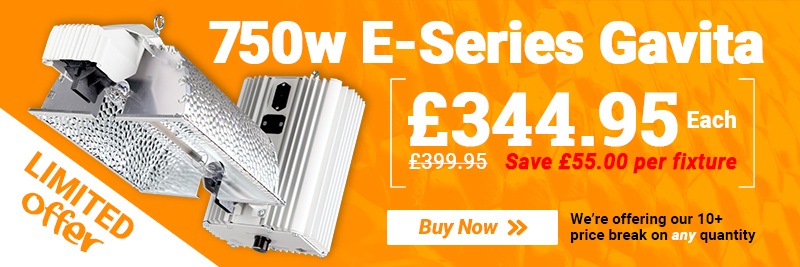 Gavita - £55 off 750w E-Series Full Fixtures!