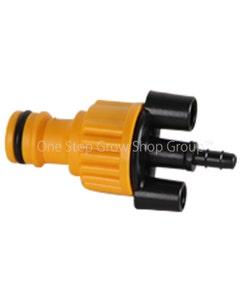 Autopot - 6mm Outlet to Male Click-fit Hose Connector