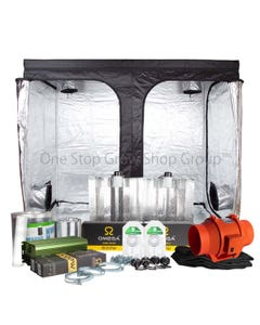 2 x 600W Essential Grow Tent Kit with 2 x 600W Grow Light and Full Extraction Kit