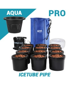 IWS Pro Flood & Drain Grow System with Icetube Pipe - Aqua (6.5l) Inner Pots
